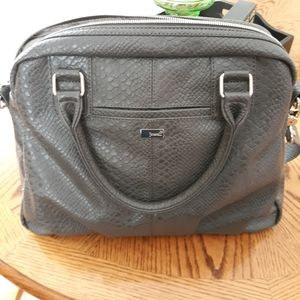 Thirty-One Grey pebble Jewel tote